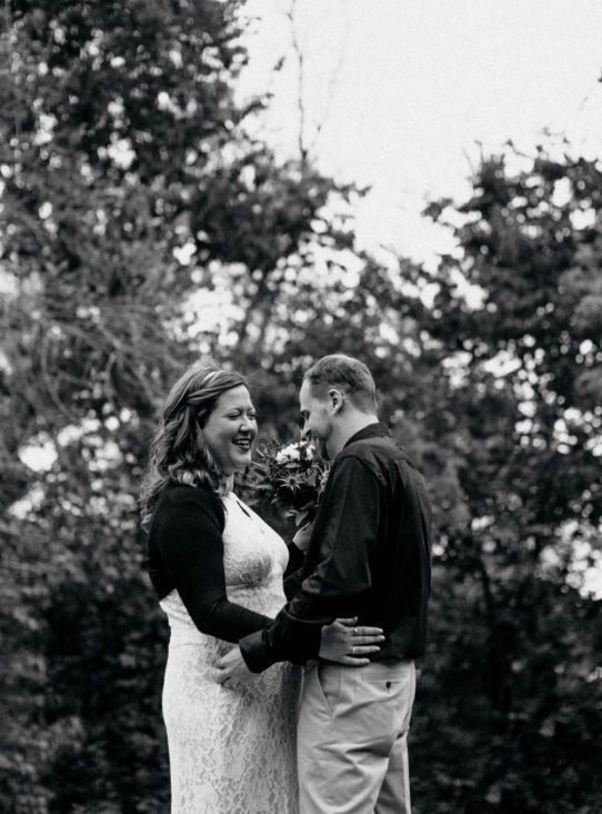 Intimate fall wedding at Camp Lakodia